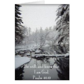 Scène d'hiver - 46:10 de psaume cartes