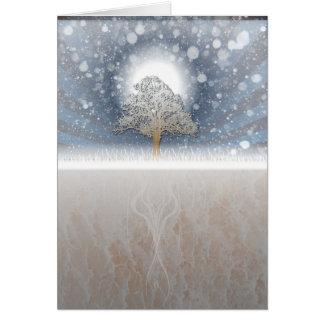 scène d'hiver cartes de vœux