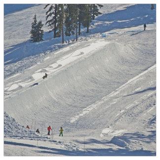 Scène d'hiver de ski alpin tissu