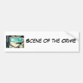 Scène du crime autocollant de voiture