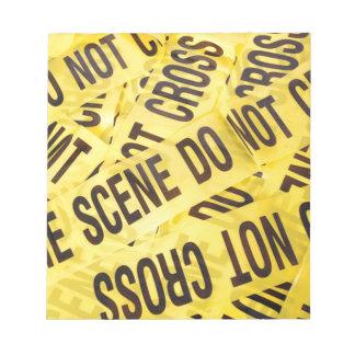 Scène du crime blocs notes