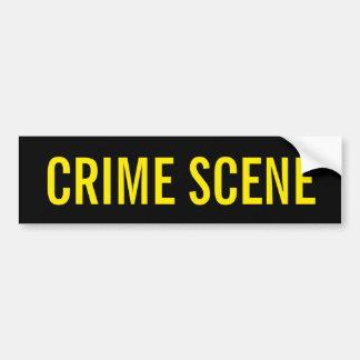 SCÈNE DU CRIME - emblème jaune d'or de logo Autocollant Pour Voiture