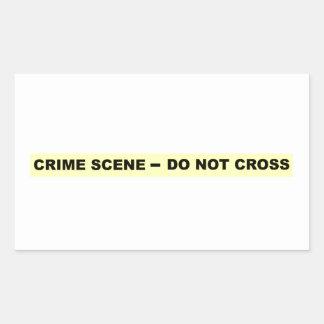 Scène du crime - ne croisez pas sticker rectangulaire