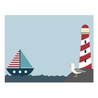 Scène nautique carte postale