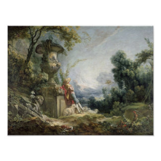 Scène pastorale, ou jeune berger dans un paysage posters