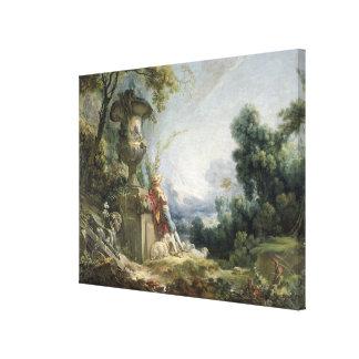 Scène pastorale, ou jeune berger dans un paysage toiles