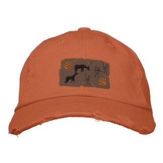 Scène primitive de chasse d'arc pour des chasseurs casquette brodée