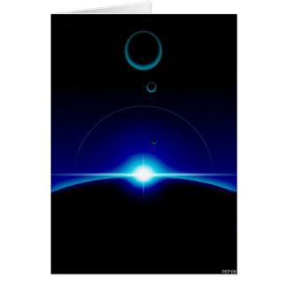 Scène solaire carte de vœux