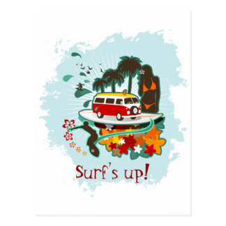 Scène tropicale de plage carte postale