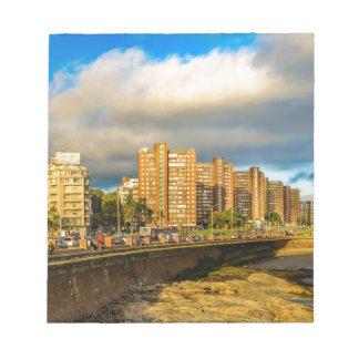 Scène urbaine côtière, Montevideo, Uruguay Bloc-note