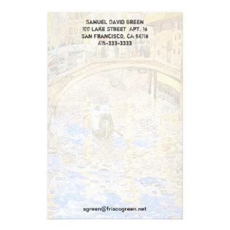 Scène vintage de canal de Venise Italie - par Pren Papier À Lettre Personnalisable