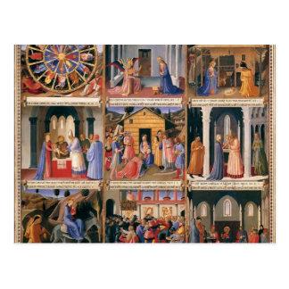 Scènes d ATF Angelico- de la vie du Christ Carte Postale