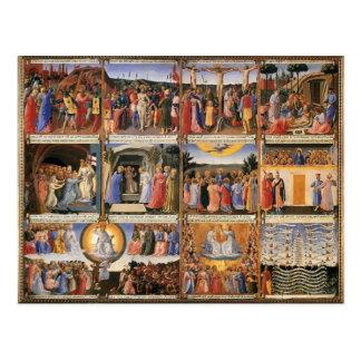 Scènes d ATF Angelico- de la vie du Christ Cartes Postales