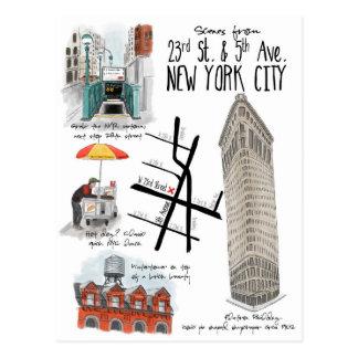 Scènes de 23ème et 5ème carte postale d'avenue New