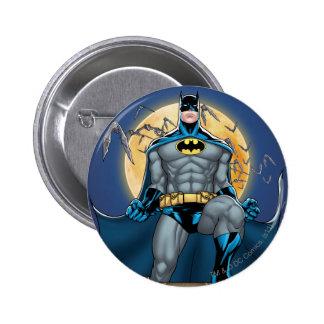 Scènes de Batman - vue de face de lune Badge Avec Épingle