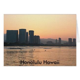 Scènes de carte d'Hawaï