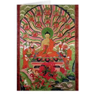 Scènes de la vie de Bouddha Carte De Vœux