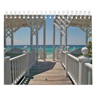 Scènes de plage de beau bord de la mer, la Floride Calendriers Muraux