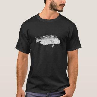 Schéma d'or poisson-tuile t-shirt