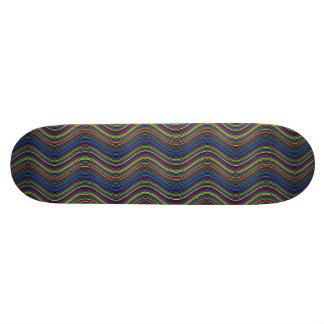 Schéma géométrique abrégé sur décoratif Ornamental Mini Skateboard 18,7 Cm