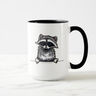 Schéma raton laveur mug