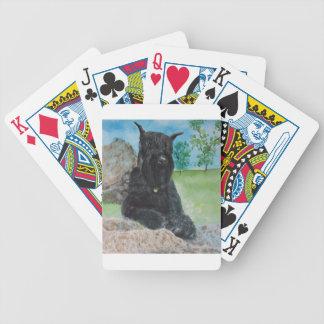 Schnauzer géant noir jeu de cartes