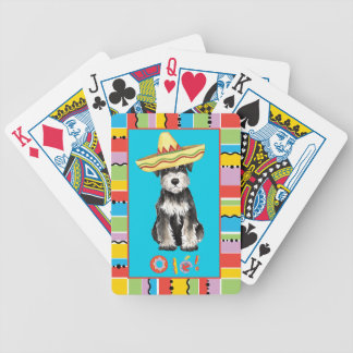 Schnauzer miniature de fiesta jeux de cartes