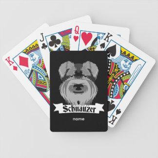 Schnauzer noir et gris jeu de poker