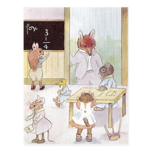 School de Mme Owl's Carte Postale