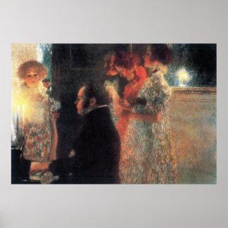 Schubert au piano par Gustav Klimt Poster