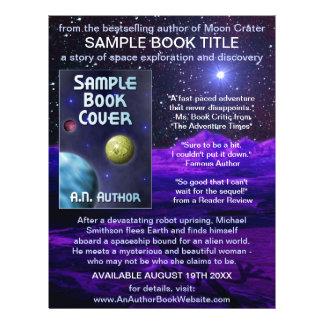 Science-Fiction de l'espace de promotion de livre Prospectus 21,6 Cm X 24,94 Cm