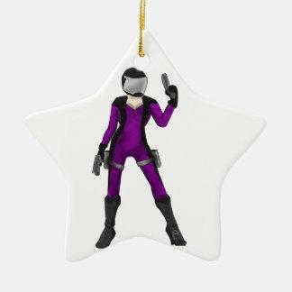 Scifi Cop Ornement Étoile En Céramique