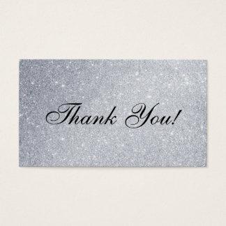 Scintillement argenté élégant d'insertion de Merci Cartes De Visite