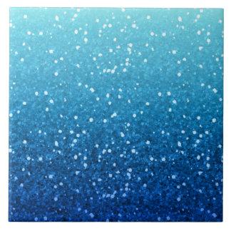 scintillement bleu carreau