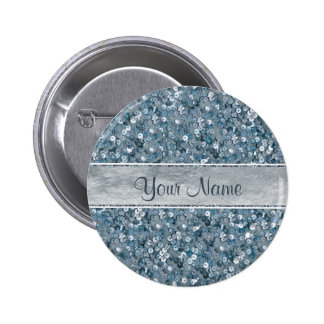 Scintillement bleu d'aluminium argenté de pin's