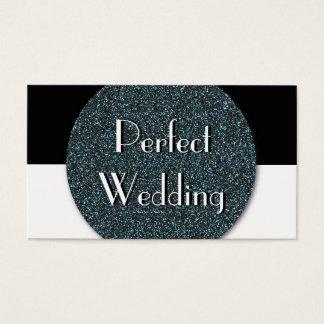 Scintillement bleu de carte de visite de wedding