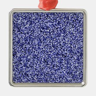 Scintillement bleu de Faux de saphir Ornement Carré Argenté