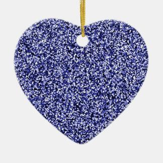 Scintillement bleu de Faux de saphir Ornement Cœur En Céramique