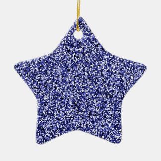 Scintillement bleu de Faux de saphir Ornement Étoile En Céramique