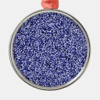 Scintillement bleu de Faux de saphir Ornement Rond Argenté