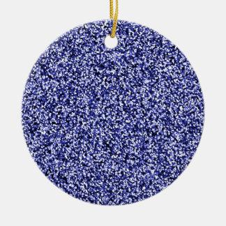 Scintillement bleu de Faux de saphir Ornement Rond En Céramique