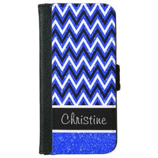 Scintillement bleu et caisse noire de portefeuille