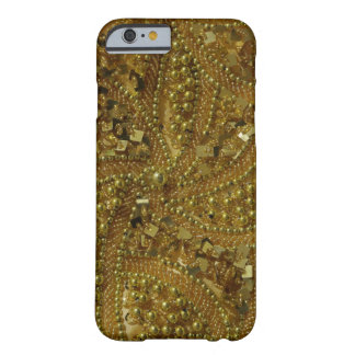 Scintillement bling et perles d'or coque iPhone 6 barely there
