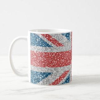 Scintillement BRITANNIQUE à la mode frais de faux Mug