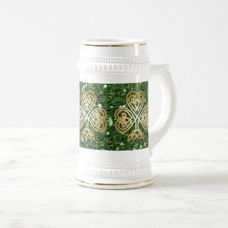Scintillement celtique brillant d'or de Faux de Chope À Bière