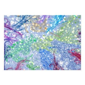 Scintillement coloré d abrégé sur bleu d aquarelle faire-part