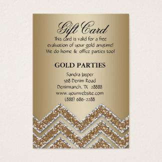 Scintillement de chèque-cadeau de partie d'or de