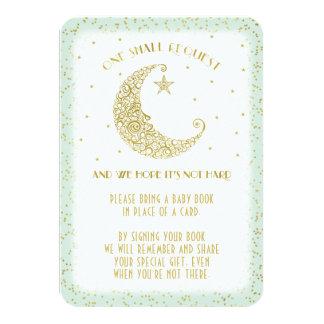 Scintillement de demande de livre peu de menthe de carton d'invitation 8,89 cm x 12,70 cm
