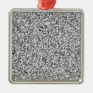 Scintillement de Faux de gris argenté Ornement Carré Argenté