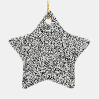 Scintillement de Faux de gris argenté Ornement Étoile En Céramique